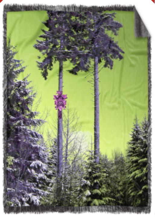 """Kuschel-Decke """"Waldspaziergang"""""""