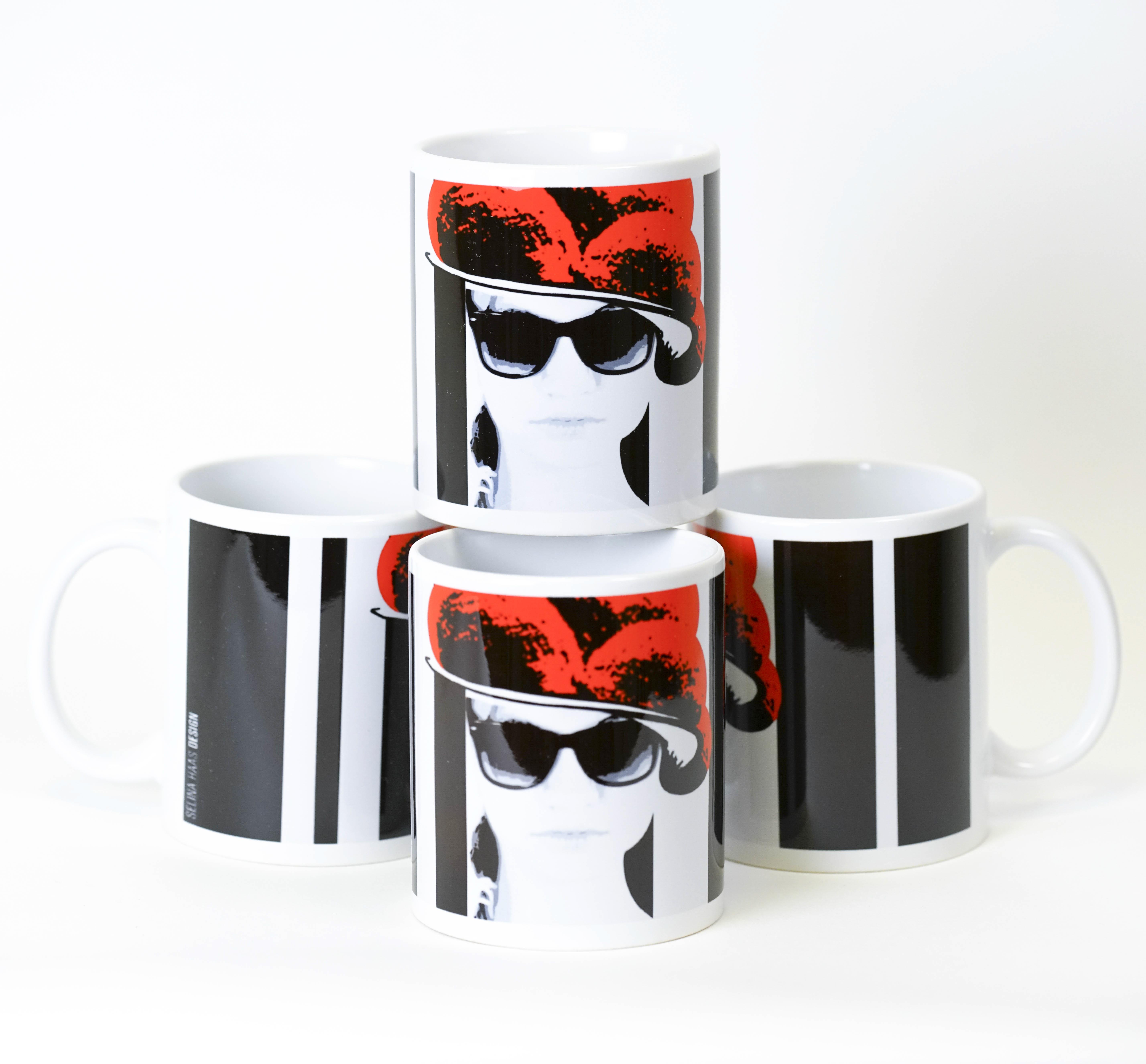"""4 x Tasse """"Schwarwaldmädel"""""""