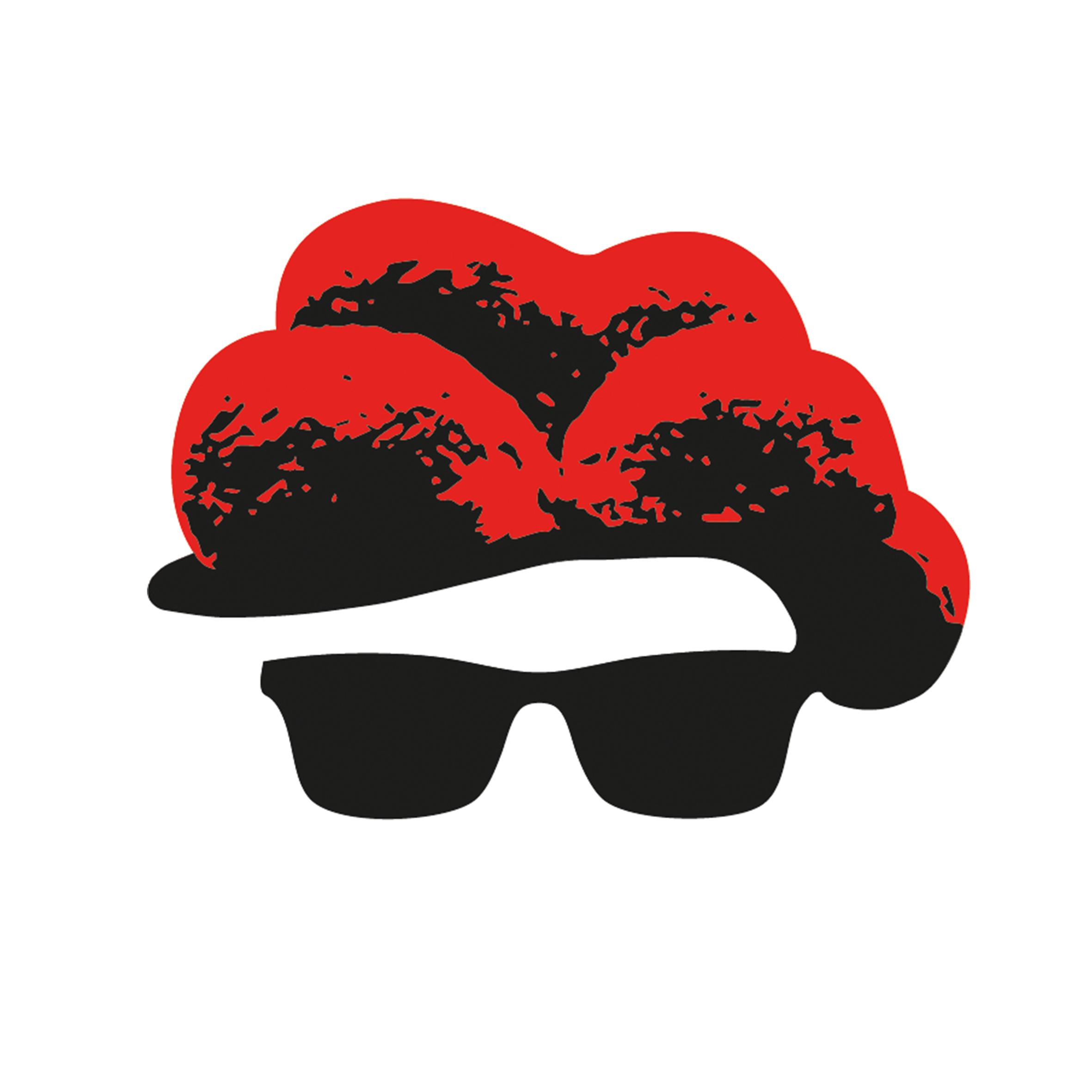 """Aufkleber """"Bollenhut mit Sonnenbrille"""" Gr. L"""
