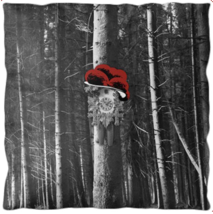 """Kissen mit Füllung """"Kuckuck am Baum"""""""