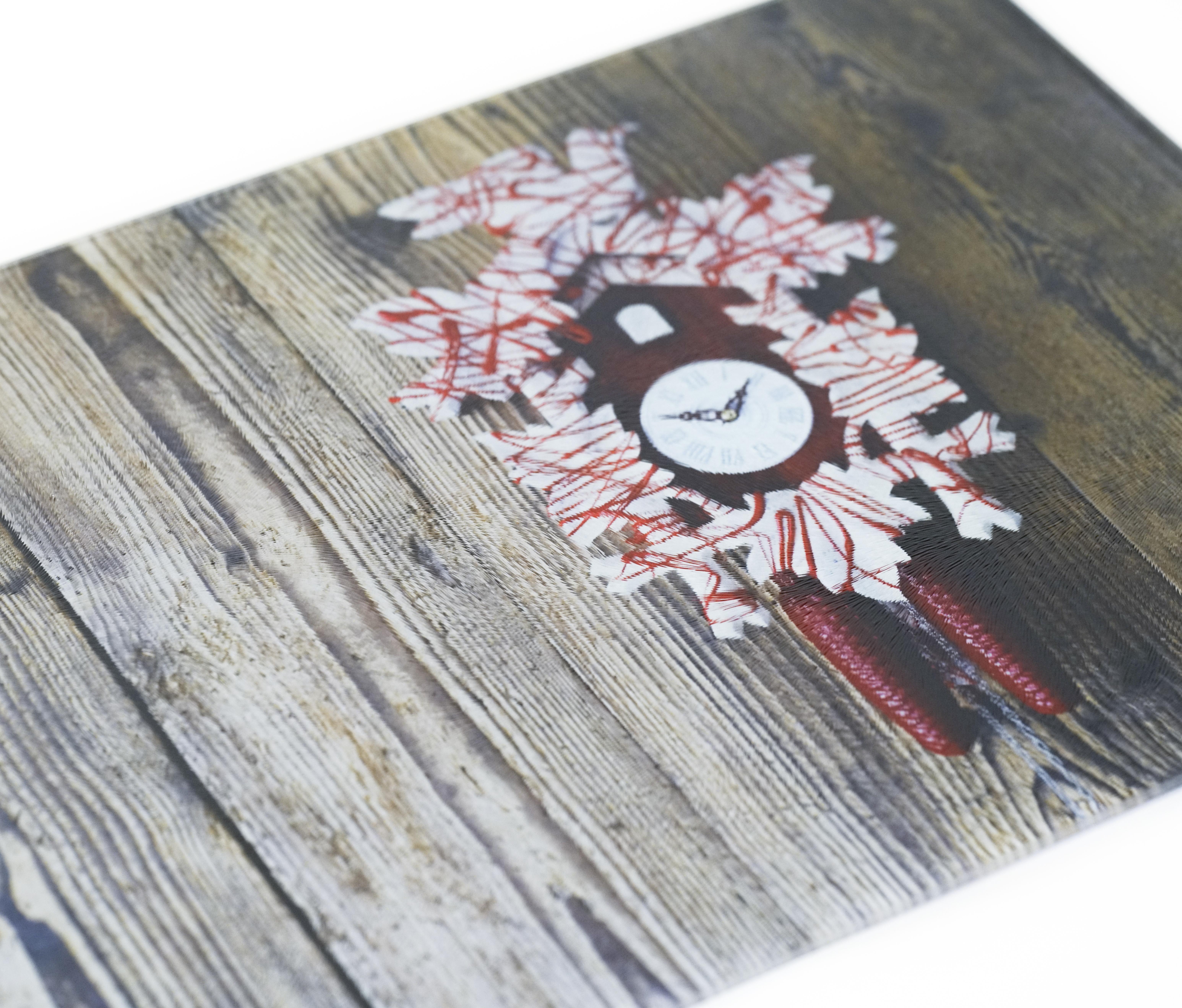 Schneidebrett (Kuckuck an Holz)