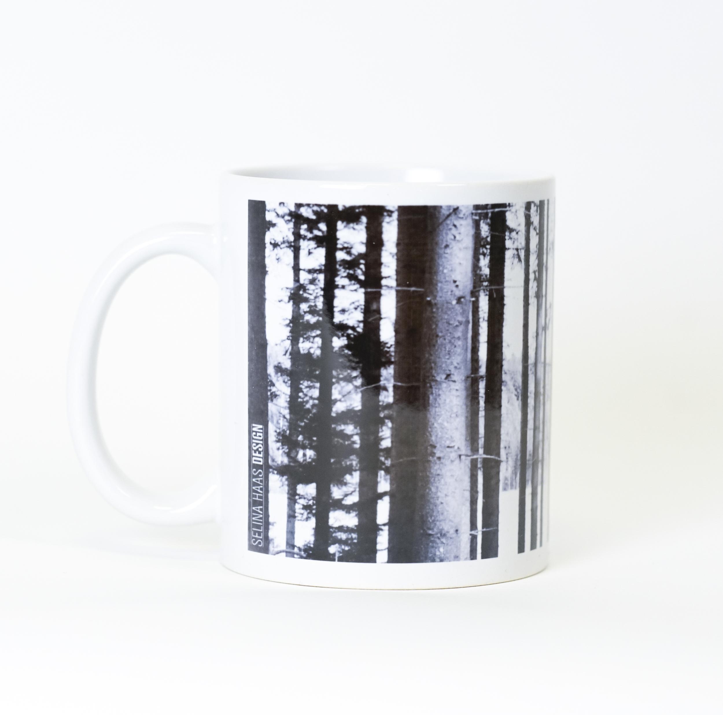 """4 x Tasse """"Kuckucksuhr im Wald"""""""