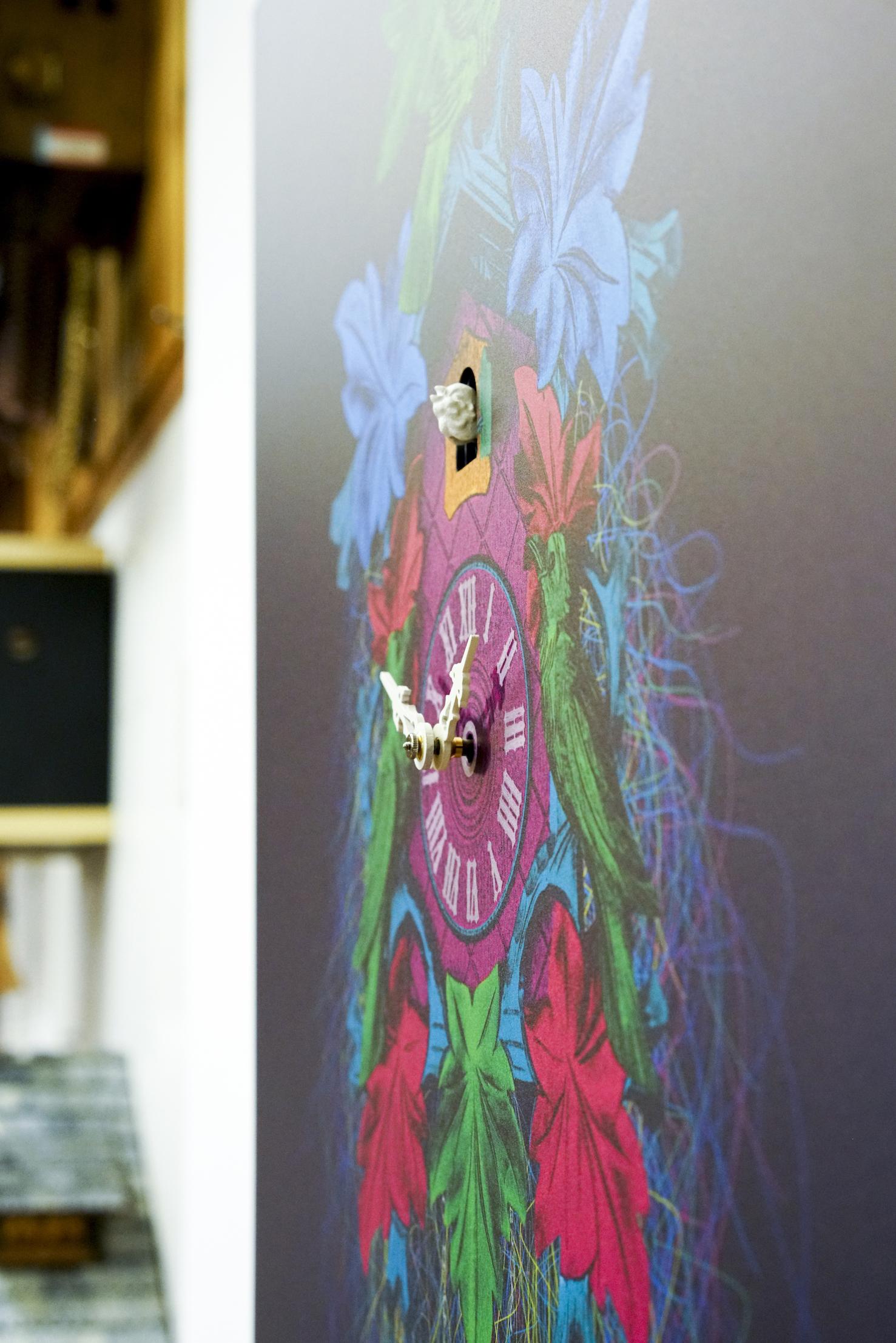 Bilderuhr / Wandbild-Kuckucksuhr mit mechanischem Werk